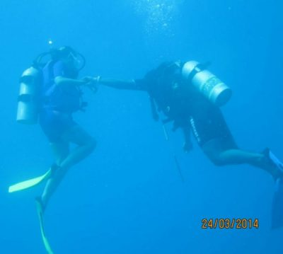 Me learning to dive!